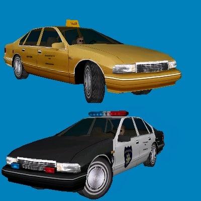 chevrolet caprice classic taxi 3d model
