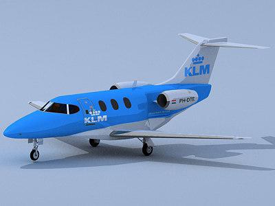 klm business jet 3d model