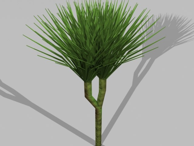 3d realistic tropic plant