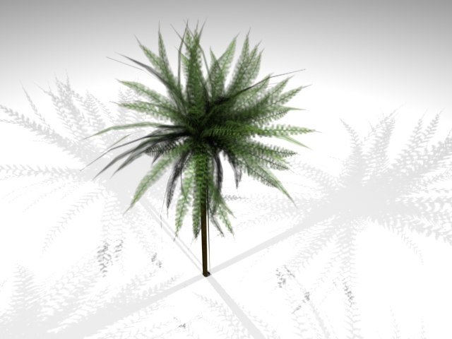 3d photorealistic palm model