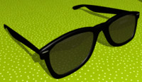 3d model ray-ban wayfarers sunglasses