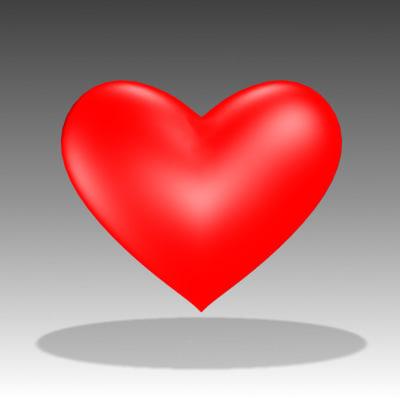 3d model heart symbol