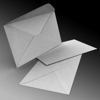 envelope paper mail 3d model