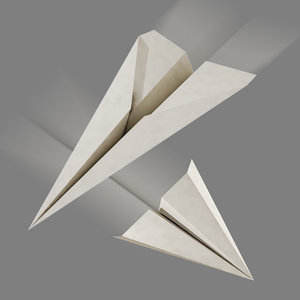 paper airplanes 3d model
