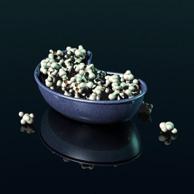 popcorn 1950 s 3d model