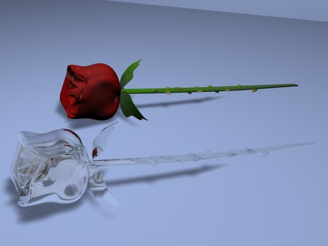 3ds max glass rose