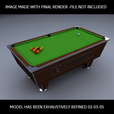 traditional pub pool table 3d model