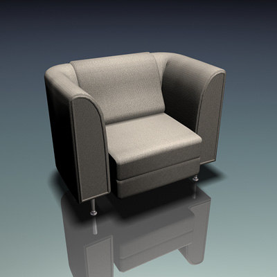 3d chair couch model