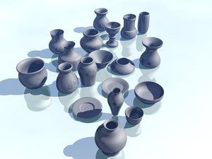 3d model ceramic pots