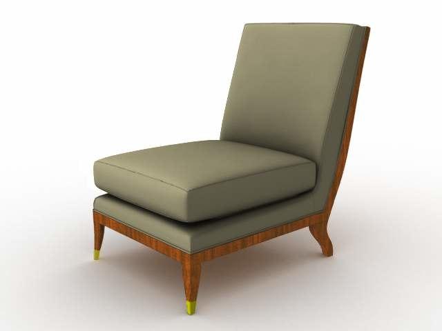 armchair chair 3d lwo