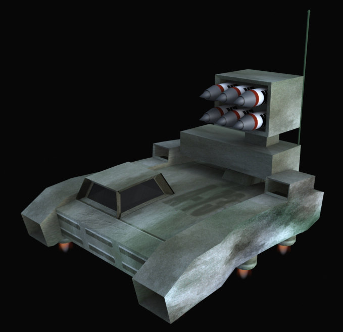 3ds max hover tank