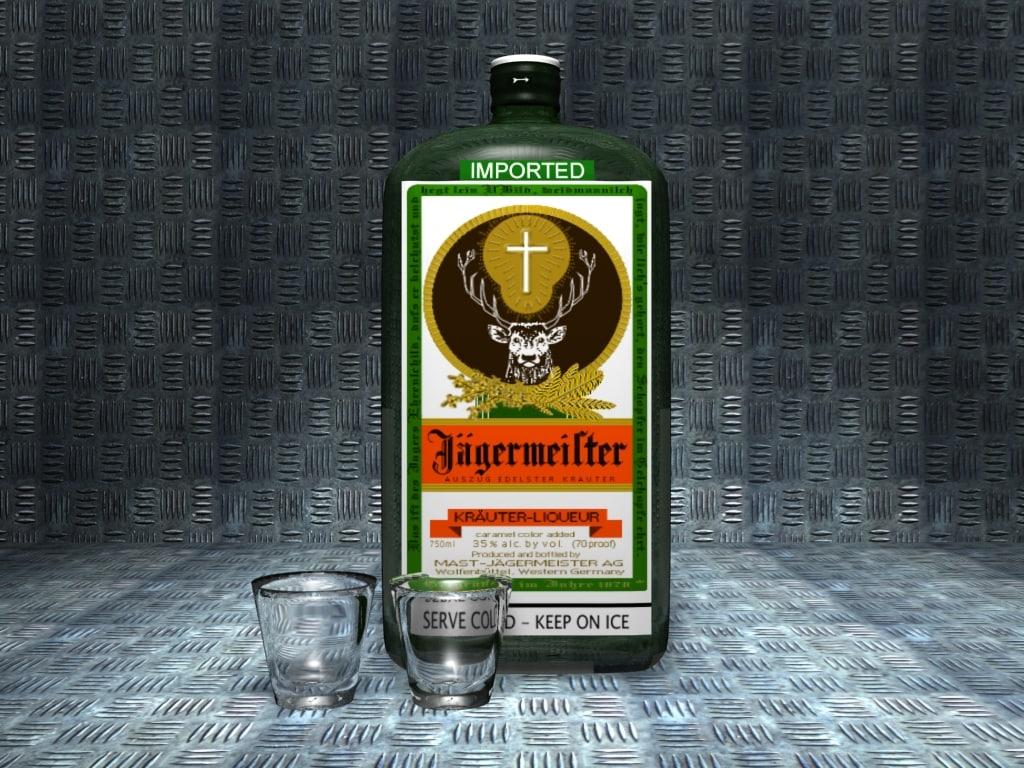 bottle glasses 3d model