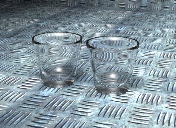 3d shot glasses model
