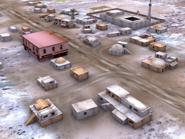 3ds max arab city desert town