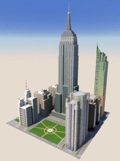 modern town 3d model