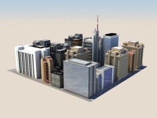 urban block 3d model