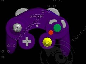 gamecube controller 3d model