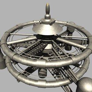 3d spacecraft vintage