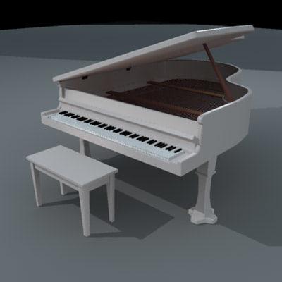 3d model piano keys