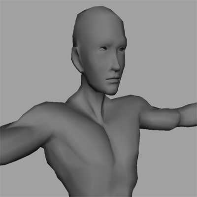 male man person 3d model