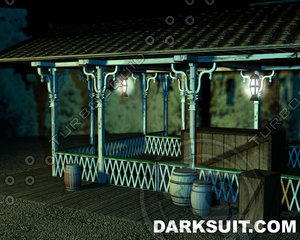 outdoor trainstation 3d ma