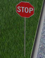 3d model stop sign