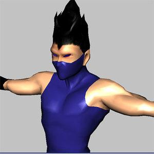 3d ninja character model