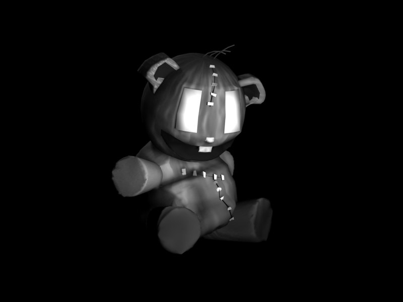 3d model evil teddy bear shmee
