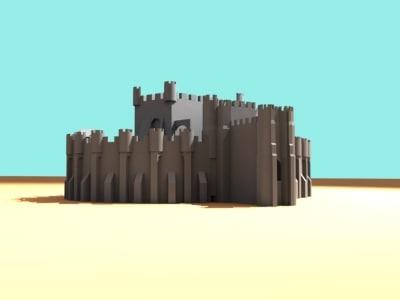 3d max medievil castle