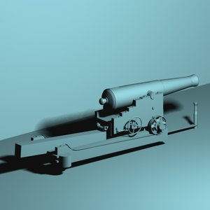 3d model 32 lb cannon