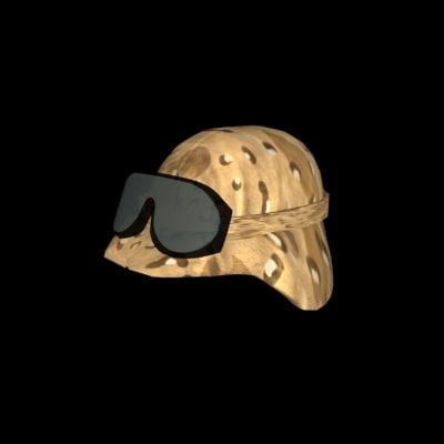 free kevlar helmet 3d model