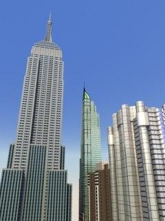 skyscrapers construction 3d model