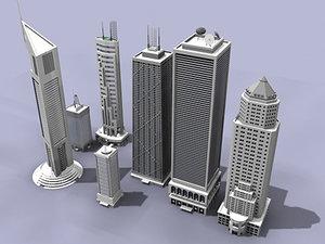 3d skyscrapers building model