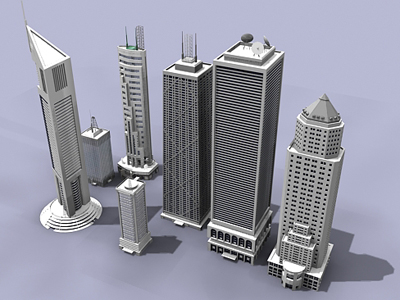 3d skyscrapers building model