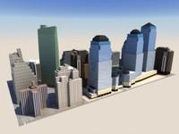 skyscrapers city 3d max
