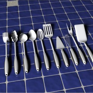lwo kitchen utensils spoon fork