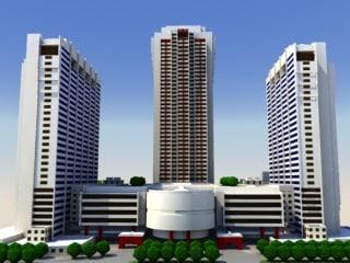 3d max skyscrapers construction