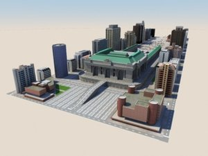 3d model of city bloc
