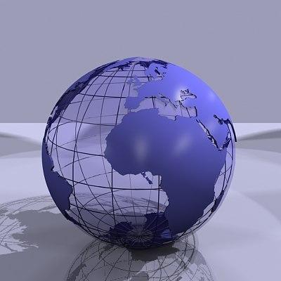 globe earth world 3d model