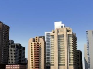 3ds max bloc city