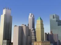 3d city bloc model