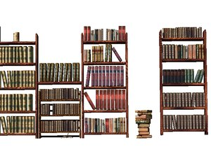lightwave libuary books shelfes