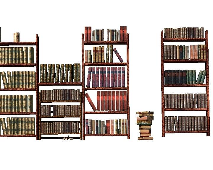 lightwave libuary books shelfes