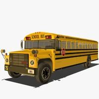 3d american school bus model