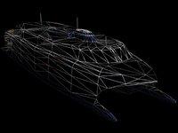 catamaran passenger car 3d model