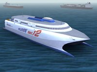 catamaran passenger car 3d model