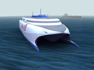 catamaran ferry 3d model