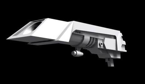 3dsmax futuristic gun