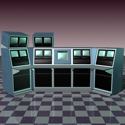 security console 3d model
