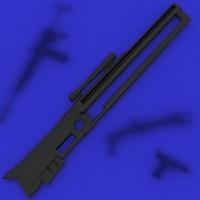 lightwave cyberpunk sniper rifle